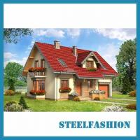 Buy cheap German style steel structure villa 108sqm with loft product