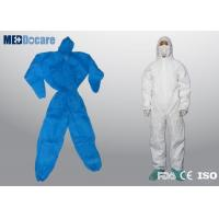 Buy cheap Disposable dust suits hooded with elasticated cuffs and ankles hygienic application from wholesalers
