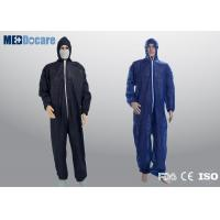Buy cheap Heavy duty disposable coveralls for men contamination control and serious infections from wholesalers