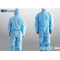 Buy cheap Disposable blue work overalls elasticated waist comfortable and odorless from wholesalers