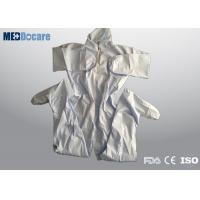 Buy cheap Disposable all in one suits microporous material with hood and boots breathable and economical from wholesalers
