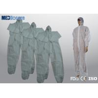 Buy cheap Disposable cleaning suits white non woven fabric one time use throw away from wholesalers