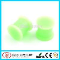 Buy cheap Surgical Steel Ear Tunnel/Plugs Flared Silicon Plug Glow in the Dark Ear Plug product
