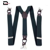 China Suspenders for Men Leather Button End Elastic Tuxedo Y Back on sale
