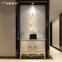 Buy cheap Resin craft Silver gold custom handiwork sculpture resin decoration product