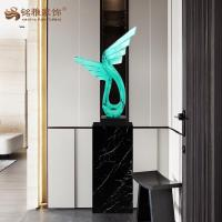 Buy cheap Resin craft Wing shape sculpture high quality resin home decor product