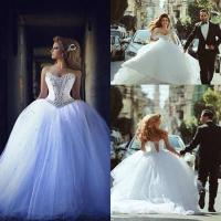 China arabic Luxury Bridal Ball Gowns Crystal Wedding Dresses Z5041 on sale