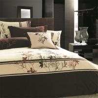 Buy cheap Embroidered Bed Sheets India from wholesalers