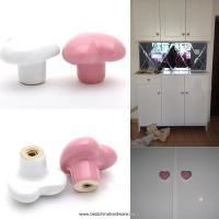 Buy cheap ceramic heart shape kitchen furniture cabinet cupboard drawer pull handle door knobs product