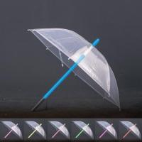 China Special invention Transparent Fabric LED Lightsaber Golf Umbrella With Color Changing on the Shaft on sale