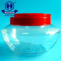 China 54OZ 1550ml Red Screw Lid With Handle Transparent Clear PET Plastic Jar Fish Tank Look on sale