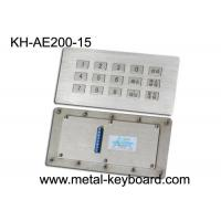 Buy cheap Vandal proof kiosk Industrial Metal Keyboard , 15 Keys Stainless Steel Panel industrial keypad product