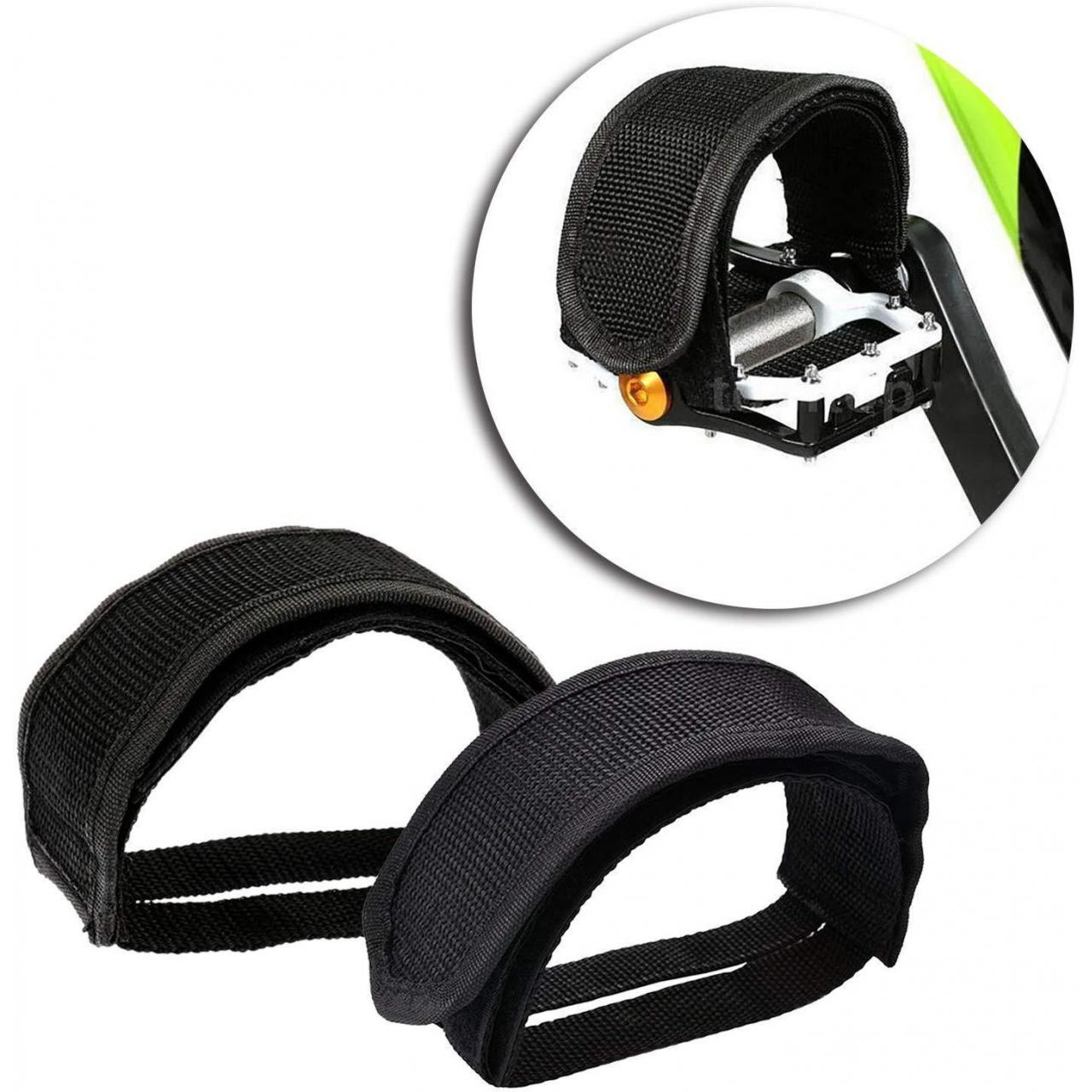 Buy cheap Road Bike Foot Straps Exercise Bike Pedal Strap Bike Toe Clips Bicycle Anti-slip from wholesalers