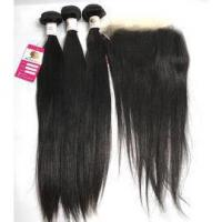 Buy cheap The Best 100 Virgin Human Hair Extensions Silky Straight with Peruvian Lace Frontal Closure #97092 from wholesalers