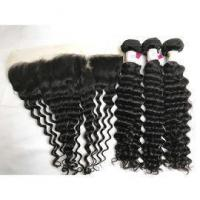 Buy cheap Peruvian Deep Wave Hair Extension with Ear to Ear Lace Frontal 100% Virgin Human Hair from wholesalers