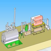 Buy cheap 10T Waste Tyre Pyrolysis Plant from wholesalers