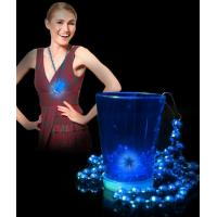 China LED Shot Glass with Beads - Blue on sale