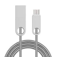 Buy cheap Micro USB cable pure metal New design 1m from wholesalers