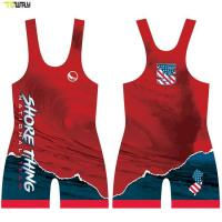 Buy cheap Wholesale Cheap Customized Mens Sublimated 4xl Pattern Wrestling Singlet for Sale product