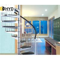 China HYD-SS034factory indoor/outdoor cast iron spiral staircase, used metal stairs on sale