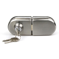 Buy cheap Double side High quality Stainless steel 201 office sliding 8-12mm glass door lock product