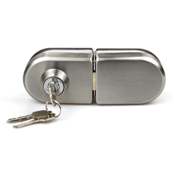 China Double side High quality Stainless steel 201 office sliding 8-12mm glass door lock