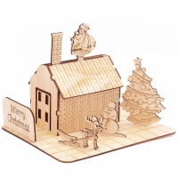 Buy cheap GK-Wood Christmas House 3D Puzzle product
