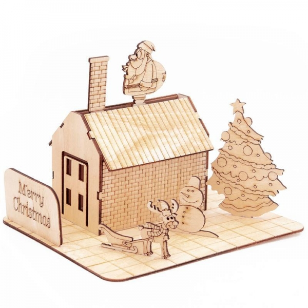 China GK-Wood Christmas House 3D Puzzle