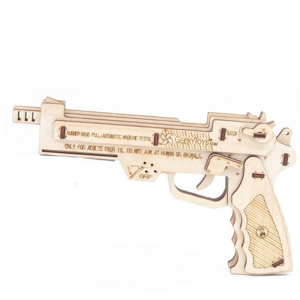 China GK-Wood Full Auto Rubber Band Pistol 3D PUZZLE