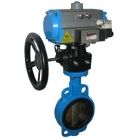 Buy cheap CI,DI,Cast iron wafer type butterfly valve pn16 from wholesalers
