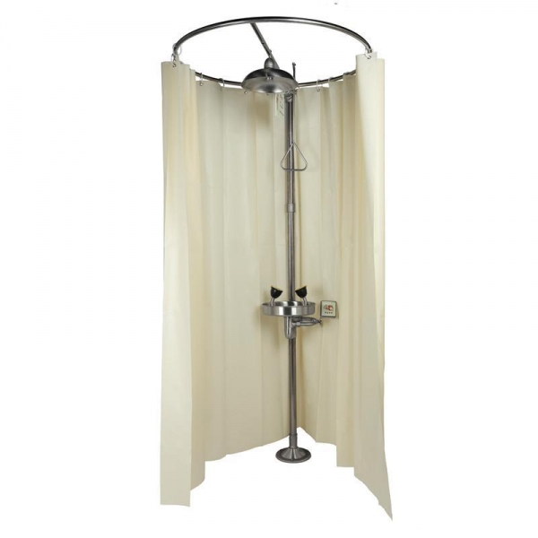 China Emergency Shower and Eyewashes, Stainless Steel, with Curtain, Model: ESW010MH-C