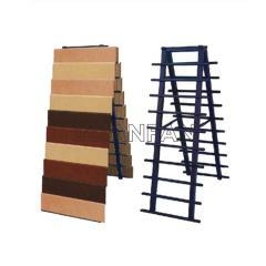 China Blue Metal Display Stand For Marble Tile Display