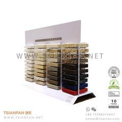 China Metal Wire Stone Marble Counter Display for Marketing Promotion